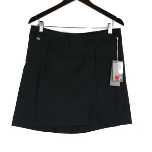 Maggie Lane Black Mini Tech Golf Skort Skirt